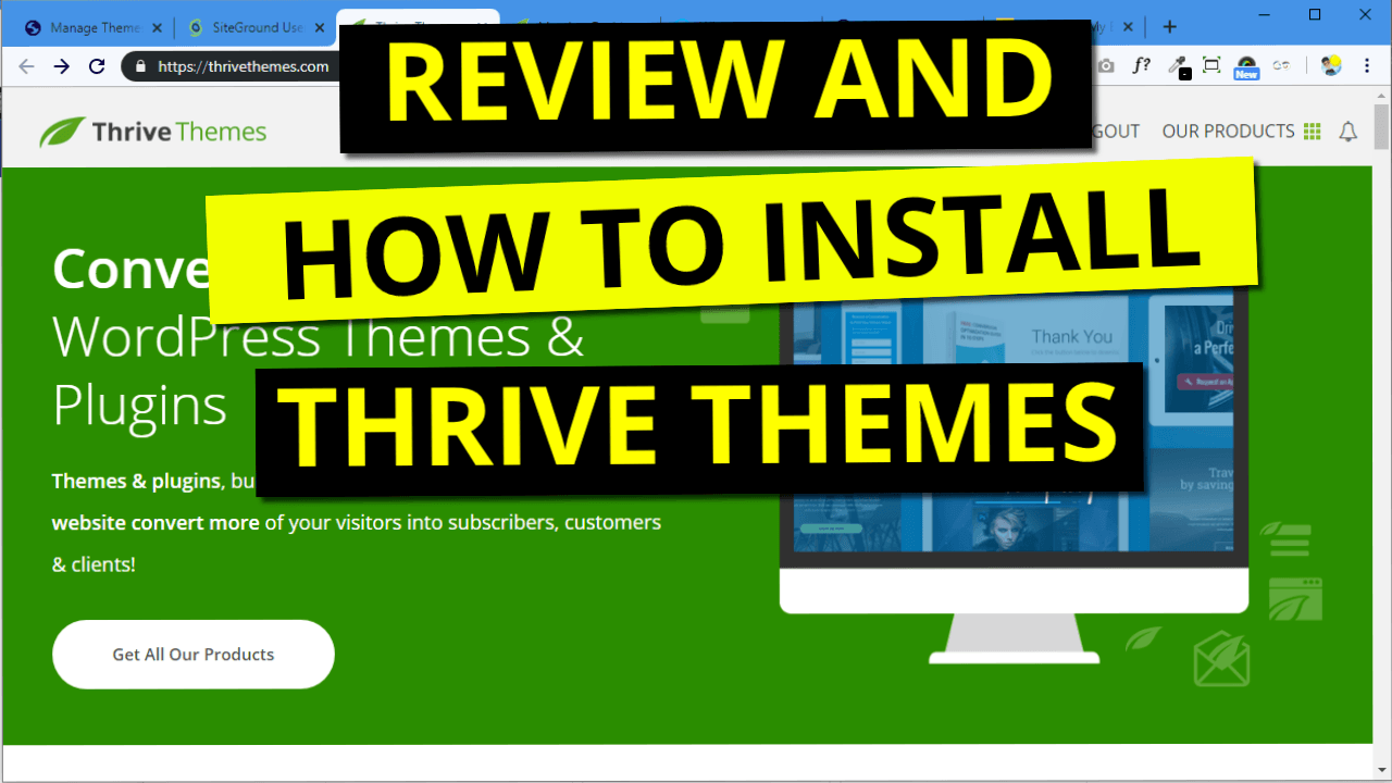Review and How to Install Thrive Themes