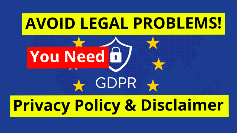 Avoid Legal Problems - Create Privacy Policy and Disclaimer WordPress Pages
