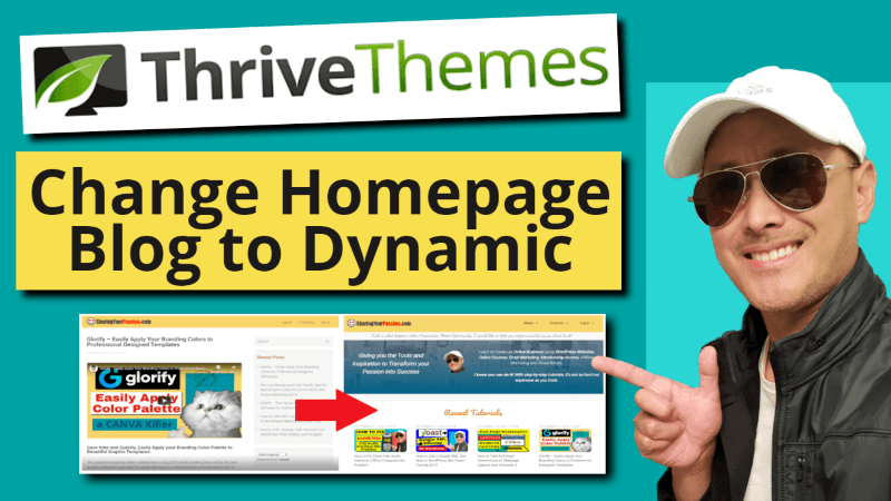 How to Change WordPress Homepage from default Blog to Dynamic Static Page - Thrive Themes