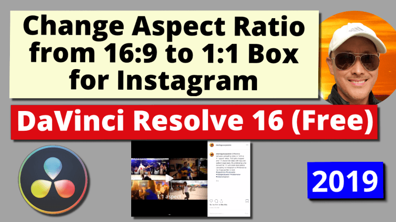 Change Aspect Ratio to Square or Vertical for Instagram, Pinterest Mobile Video | DaVinci Resolve 16