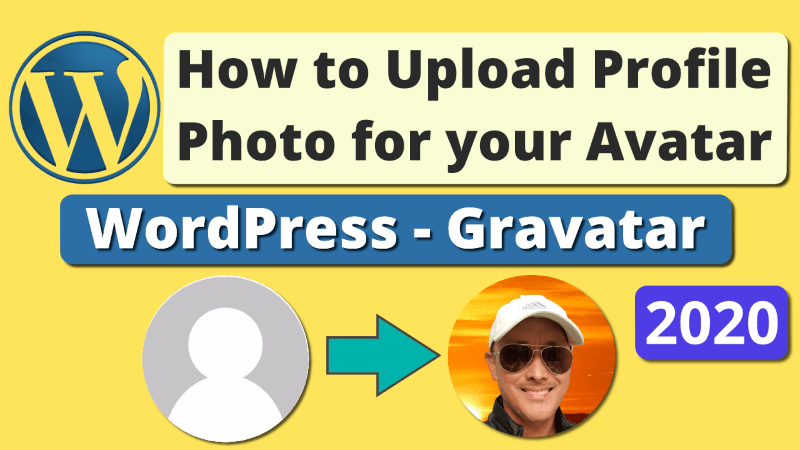 Change Admin Author Profile Picture in WordPress using Gravatar