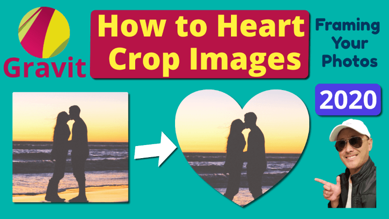 Crop Image with Heart Shape in Gravit Designer | Mask Cut Out Tutorial 2020