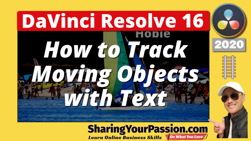 DaVinci Resolve Tracking Text on Moving Objects