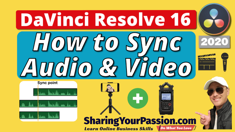 How to Sync Audio and Video in DaVinci Resolve 2020