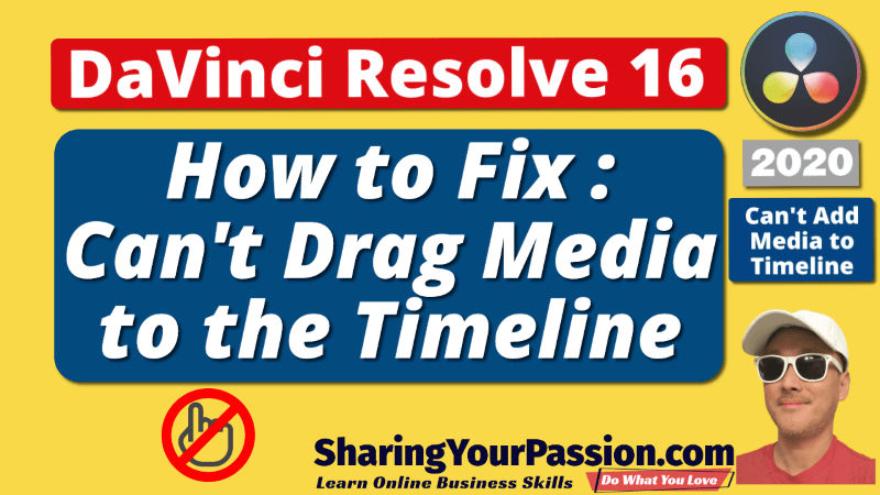 How to Fix Can't Add, Drag or Move Media to Timeline Problem - DaVinci Resolve 16 (2020)
