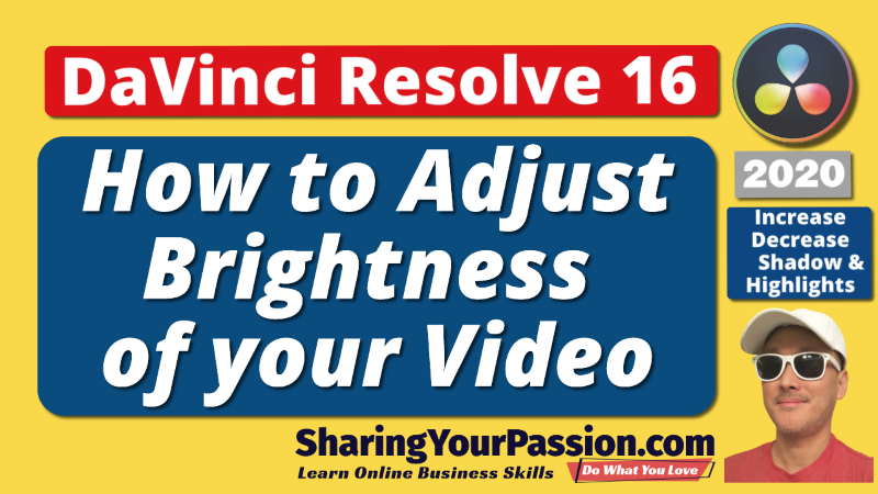 DaVinci Resolve Adjust Brightness Control - Increse Decrease Shadow and Highlights