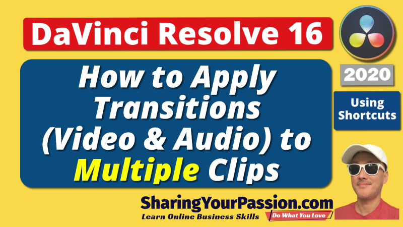 Easily Apply Video Audio Transitions to Multiple Clips | DaVinci Resolve 2020