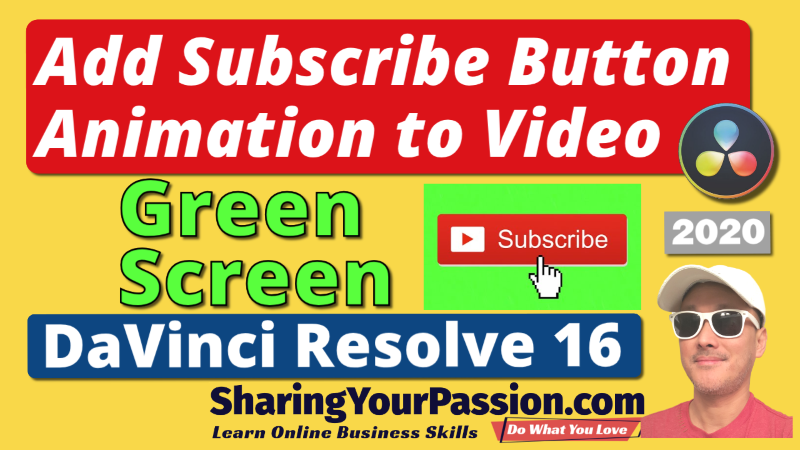 Add Animated Subscribe Button with Green Screen Transparency in DaVinci Resolve